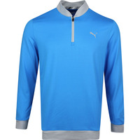 PUMA Golf Pullover - Rotation Stealth QZ - Ibiza Blue SS20