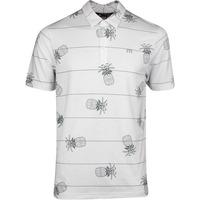 TravisMathew Golf Shirt - Stacked Deck Polo - White SS20