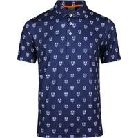 PUMA Golf Shirt - Skull X Print Polo - Peacoat LE SS20