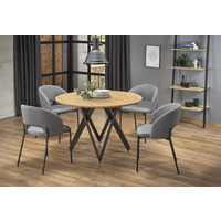 Buster 120cm Oak Round Dining Table