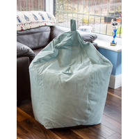 Duck Egg, Faux Suede, Large Bean Bag