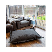 Black, Water Resistant Bean Bag Lounger