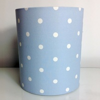 Blue Polka Dot Medium Fabric Light Shade