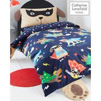 Catherine Lansfield Super Dog Easy Care Single Duvet Set