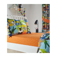 Orange and White Spotty Junior Fitted Sheet