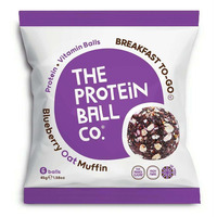 The Protein Ball Company Blueberry Oat Muffin Balls 45g - Pack of 10