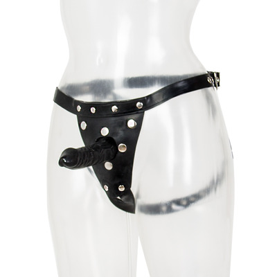Latex Rubber Strap-On With Dildo