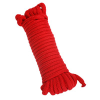 10M Cotton Bondage Rope Red