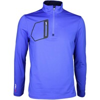 RLX Golf Pullover - Mock Neck Zip Royal Blue SS16