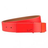 Nike Golf Belt - Sleek Modern Tonal Plaque Bright Crimson SS16