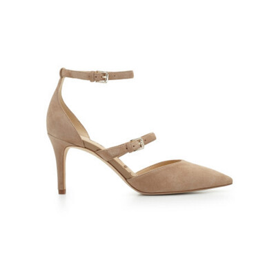 Thea Strappy Heel - Oatmeal