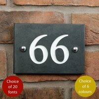House numbers in smooth slate with 2 digit - any number 10 to 99