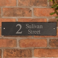 Rustic Slate Address Sign 40.5 x 10cm