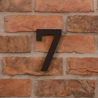 15cm Tall Laser Cut Acrylic House Number 7