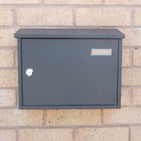 Taylor Grey Letterbox personalised with your address