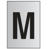 Metal Effect PVC Letter M