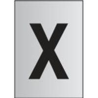 Metal Effect PVC Letter X