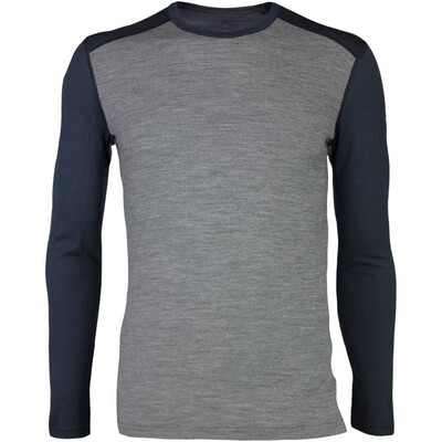 Icebreaker Base Layer Oasis LS Crew Merino Stealth AW16