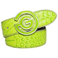 Galvin Green Golf Belt - WESLEY Leather - Apple Green SS17