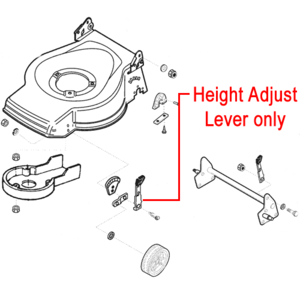 Al Ko Replacement Lawnmower Front Height Adjuster Lever 527700