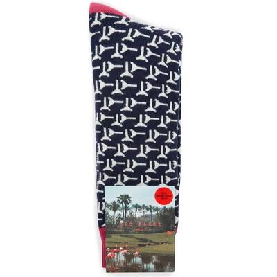 Ted Baker Golf Socks Tee Pattern Navy AW17
