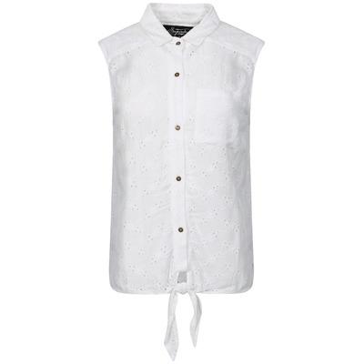 Superdry Shiffley Lace Sleeveless Shirt - Jungle White-L