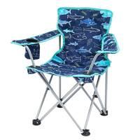 Joules Kids Lazy Folding Chair, Blue Navy Shark