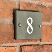 Smoky Green Slate 1 digit number WGSN1