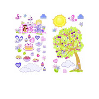 Butterfly and Owl Tea Party, 40 Wall Stickers
