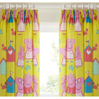 Peppa Pig, Nursery Curtains 54s - Seaside