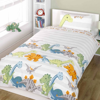 Dinosaur Natural Stripe Single Duvet
