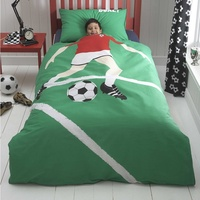 Football Star Toddler Bedding BUNDLE, Red. 9.0 Tog Quilt