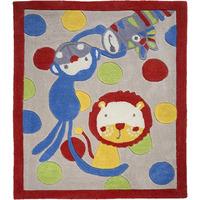 Jungle Rug, Monkeys and Lion - 100 x 80 cm