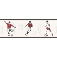 Red Footballer Wallpaper Border
