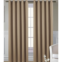 Ripon Thermal Blackout Eyelet Curtains 66 x 72 - Coffee