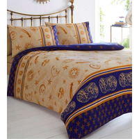 Gold Cosmos Moon And Stars Single Bedding