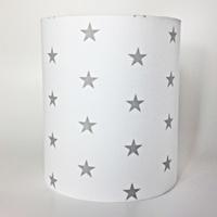 Grey Stars, Medium Fabric Light Shade