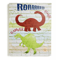 Dino Doodles Canvas with Sound Function 40 x 50 cm