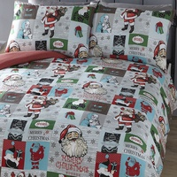Santa Block Single Bedding