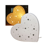 3D Ceramic Night Light - Love Heart