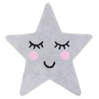 Sweet Dreams, Grey Star Rug 70 x 67 cm