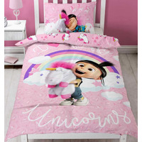I Love Fluffy Unicorns, Girls Single Bedding
