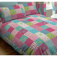 Jessica, Pink Patchwork, Double Duvet Cover