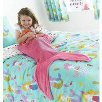 Catherine Lansfield Mermaid Tail Blanket Pink