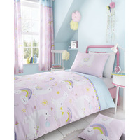 Catherine Lansfield Llama-corn Easy Care Single Duvet Set Pink