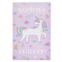 Catherine Lansfield Summer Unicorn Beach Towel Multi 76 x 160 cm