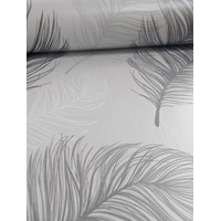 Black and White Feather Wallpaper - Whisper