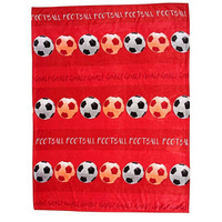 Red, Football Fleece Blanket
