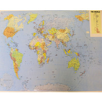 World Map - Laminated 60 x 42 cm