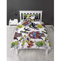 Marvel Comics, Boys Single Bedding Set - Scribble
